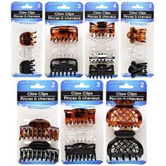 Fancy hair styles are fast and easy with these great claw clips, just twist and clip! This assortment has a variety of colors and decorative styles and can accommodate most types of hair. Perfect for