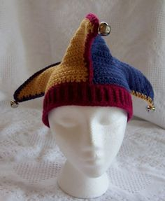 Image result for Jester crochet hat pattern
