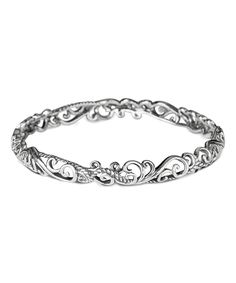 5e5da8930 Look at this Carolyn Pollack Sterling Silver Filigree Bangle on #zulily  today! Sterling Silver