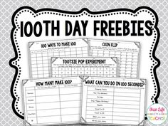 Use these day math freebies on your day of school. These day math activities are perfect for first, second, and third grade classes. 100th Day Of School Crafts, 100 Day Of School Project, 100 Days Of School, School Holidays, School Fun, School Stuff, School Projects, Class Projects, 1st Grade Math