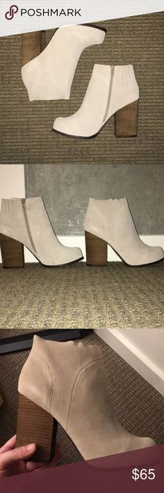Jeffrey Campbell Hanger Booties Never been worn! Jeffrey Campbell taupe suede Hangar booties in perfect condition. Size 10. Jeffrey Campbell Shoes Ankle Boots & Booties