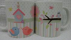 Caneca Personalizada Chá de bebê Creative, Shower Prizes, Finger Print, Enchanted Garden, Personalized Mugs, Birth