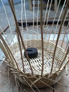 4 of 10 - washing basket being made - randed weave Ideas Baños, Washing Basket, Wicker Baskets, Weaving, Home Decor, Baskets, Interior Design, Loom Weaving, Home Interior Design