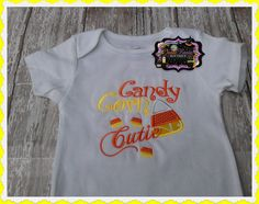 Hey, I found this really awesome Etsy listing at http://www.etsy.com/listing/160612305/candy-corn-cutie-embroidered-shirt