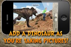 Taking pics with Dinosaurs!