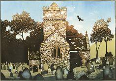 Limited Edition Prints by Linocut Artist Ian Phillips Landscape Prints, Urban Landscape, Linocut Artists, Woodcut Art, Etching Prints, Architecture Graphics, Chapelle, Lino Prints, Art Prints