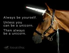 Always be a Unicorn horse quote