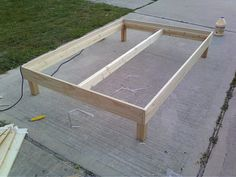 bed frame - he said it cost $150 in materials but that seems high
