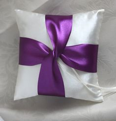 pink light blue light purple pillows | Home :: Ring Pillow :: Ivory Ring Bearer Pillow with Purple Lover's ...
