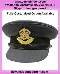 8972efdc703 DETAILS ABOUT RAF HAT KINGS CROWN STYLE OFFICERS CLOTH PEAKED CAP VISOR NEW  Fully customized option