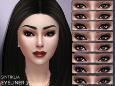 The Sims Resource: Sintiklia - Eyeliner 3 • Sims 4 Downloads