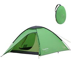 KingCamp ELBA 3-Person 3-Season Light Instant Pop Up Dome Tent With Carry Bag ** Want to know more, click on the image. #CampingTents #campinglantern