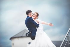 Clouds, rain and love in a sensational image Personalized Wedding, Hug, Rain, Clouds, Memories, Wedding Dresses, Image, Bride Dresses, Bridal Wedding Dresses
