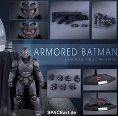 Batman v Superman - Dawn of Justice: Armored Batman, Deluxe-Figur (voll beweglich) ... https://spaceart.de/produkte/bvs003.php