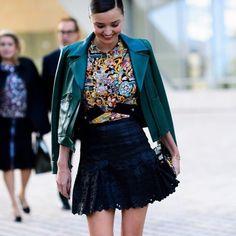 Miranda Kerr at Paris Fashion Week