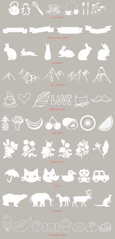 recursos molongos: 30 dingbats gratuitos | 30 free diferent dingbats, illustration fonts