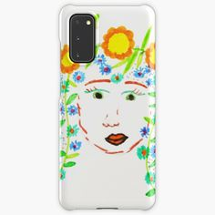 Girl with flowery hair by Elisavet by azimaplace   Redbubble Top Artists, Phone Cases, Iphone, Spring, Hair, Painting, Painting Art, Paintings, Painted Canvas