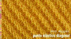 Punto elástico diagonal tejido a dos agujas o palitos - Tejiendo Perú