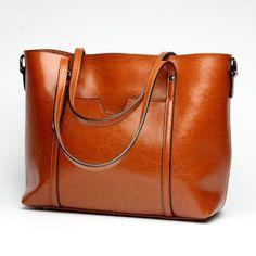 71fe861bbcae Women Casual Tote Genuine Leather Handbag Vintage Large Shopping Crossbody  Shoulder Bag