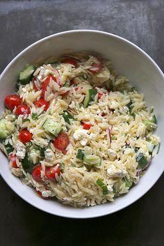 not yet summer greek pasta salad