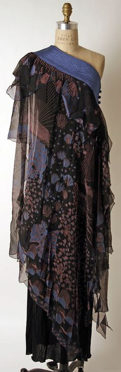 Evening dress | Zandra Rhodes (British, born 1940) Department Store: Henri Bendel (American, founded 1895) | Date: ca. 1974 | Culture: British