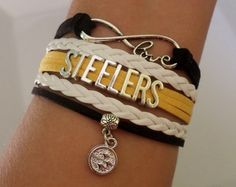 STEELERS Bracelet Steelers Football NFL gifts by SummerWishes