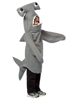 Take a look at this Gray Hammerhead Shark Dress-Up Outfit - Infant, Toddler & Kids by Rasta Imposta on today! Shark Halloween Costume, Shark Costumes, Toddler Halloween Costumes, Baby Costumes, Halloween Kids, Halloween 2018, Toddler Shark Costume, Sea Costume, Halloween Tricks