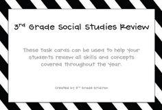 3rd Grade Gridiron: Science/Social Studies Year-In-Review Freebies!