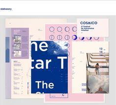 Cosmico: Astronomy festival Branding by Clara Fernandez ui, ux Print Layout, Layout Design, Print Design, Editorial Layout, Editorial Design, Identity Design, Visual Identity, Behance, Book Design
