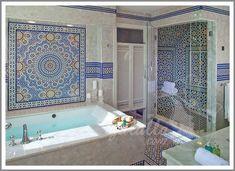 حمام مغربي Moroccan Bathroom