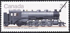 Stamp: CP Class P2a 2-8-2 Type (Canada) (Canadian Locomotives, (3rd series) 1906-1925) Mi:CA 980,Sn:CA 1072,Yt:CA 940,Sg:CA 1186