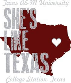 Texas A&M She's Like Texas Poster by PearlPrints on Etsy, $20.00