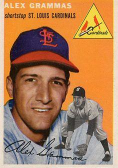 1954 Topps Alex Grammas Baseball Card