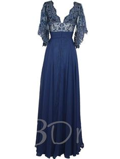 Appliques Mother of the Bride Dress with Sleeves - Tbdress.com