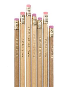 The best pairings of all time! These cheeky pencils should be on everyones desks.