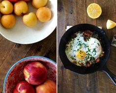 parsley, egg, lemon breakfast skillet