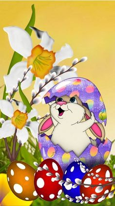 Easter Art, Easter Crafts, Easter Bunny, Easter Eggs, Easter Wallpaper, Thanksgiving Wallpaper, Bunny Images, Cute Animal Illustration, Easter Pictures