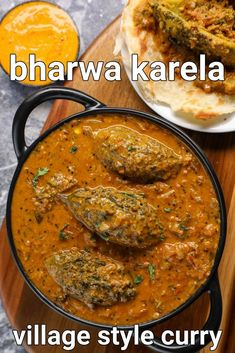 bharwa karela recipe | stuffed karela recipe | bharva karele | karela ka bharwa with step by step photo and video recipe. stuffed vegetable recipes are very common and a popular choice for most of us. these are generally made with conventional vegetables like eggplant, capsicum, tomatoes etc, but can also be made with other unconventional vegetables. one such easy and simple stuffed gravy based curry is bharwa karela recipe, known for its combination of sweet, spicy and bitter taste. Tasty Vegetarian Recipes, Spicy Recipes, Curry Recipes, Vegetable Recipes, Cooking Recipes, Paneer Recipes, Snacks Recipes, Cake Recipes, Chaat Recipe