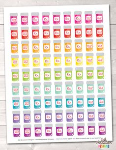 Instant Download Medication Pill Bottles Printable Planner Sticker PDF Download, print, cut & plan! Our printable stickers offer an affordable way to decora