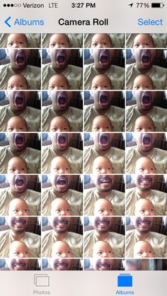 Rapidly shot a couple dozen pics with my son in my lap over. Went to pick out my favorite and realized I had created something a little unnerving in my camera roll.
