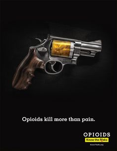 Cuyahoga County Opioid Marketing Task Force Print Ad - Know the Rx Gun
