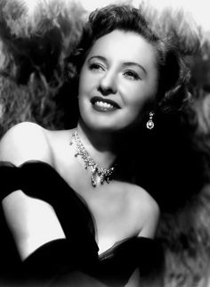 BARBARA STANWYCK- she had a certain beauty, and I loved her voice. She was real class.