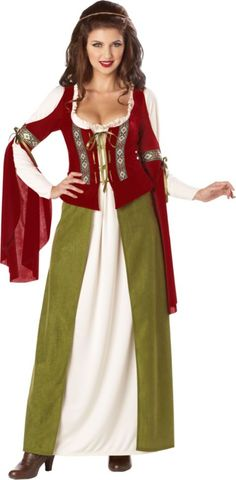 Classic Maid Marian Costume for Adults - Halloween City