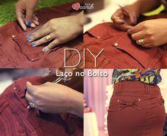 Tutorial de como fazer laço no bolso – Diy. Com vídeo.