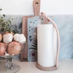 First time ever we found a paper towel holder that is actually gorgeous! | Thank you @bywirth for making the kitchen look better