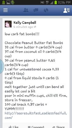 Low Carb Fat Bombs = Yummy!!!