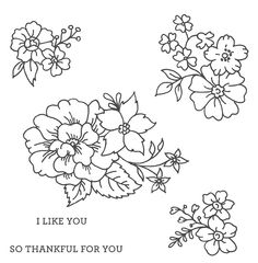 I Like You Wood-mount Stamp Set by Stampin' Up!