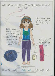 """Lottie Outfit Design: Yoga Lottie, by Elsa (9) from UK. """"I am 9 and really love doing my Yoga class, it is a very good sport to learn as it helps you relax and find your inner strength."""""""