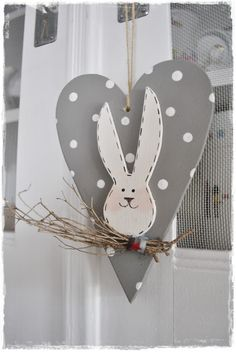 Easter / Spring Heart Ornament. Can also add a bird.