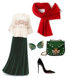 """Untitled #53"" by hanifa-begic ❤ liked on Polyvore featuring Miss Selfridge, Lacoste, Christian Louboutin and Dolce&Gabbana"
